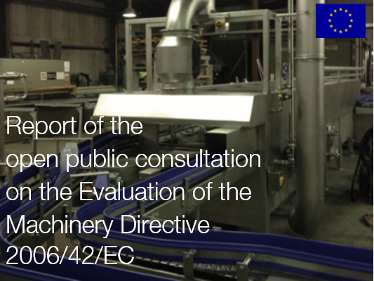 Report consultation Evaluation Machinery Directive 2006/42/EC