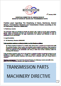 Position Paper Transmission Parts Machinery Directive 2006/42/EC Eurotrans